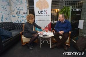 Marta Jiménez y Rafael Cejudo, ayer en El Astronauta | TONI BLANCO