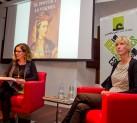 Marta Jiménez y Patricia Almarcegui en la presentación de 'El pintor y la modelo'