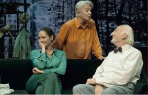 Luz comaprtiendo escena con Lola Herrera y Héctor Alterio  PENTACIÓN ESPECTÁCULOS