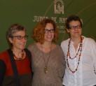 Anna Freixas, Marta Jiménez y Marisa Calero en la presentación de 'Tan frescas'