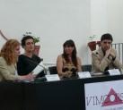 Marta Jiménez, María H. Martí, Victoria Fernández y Javier Ortega en la presentación de 'Vida tinta'